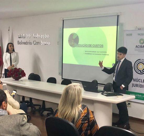Em Workshop na OAB, Núcleo Jurídico aborda temas relacionados a prática na advocacia