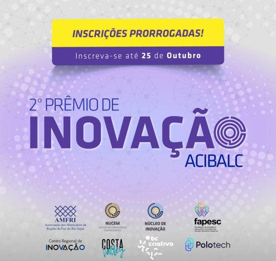Inscreva-se no 2º Prêmio de Inovação da Acibalc