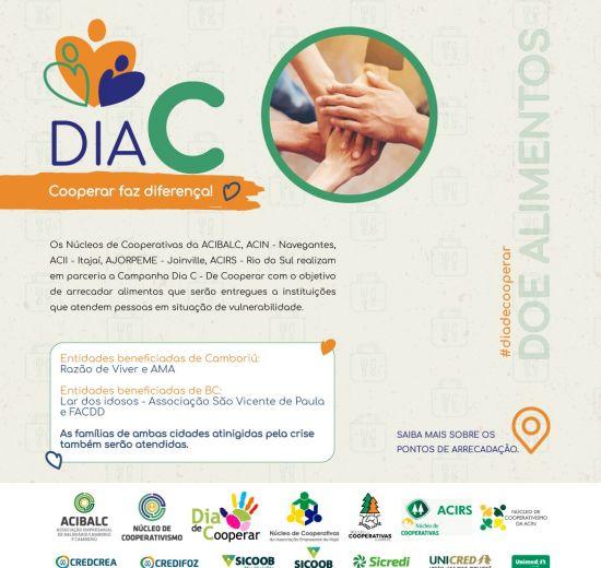Núcleo de Cooperativas da Acibalc lança campanha de arrecadação de alimentos