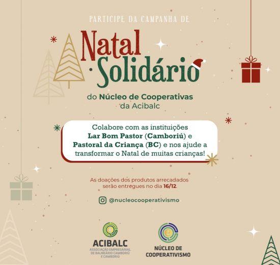 Núcleo de Cooperativismo da Acibalc promove campanha Natal Solidário